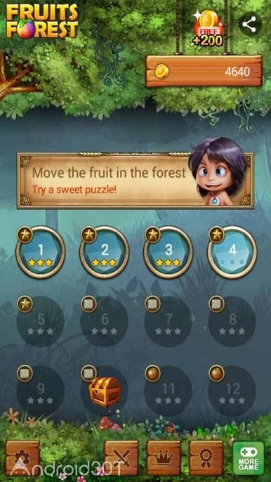 دانلود Fruits Forest : Rainbow Apple 1.7.3 – بازی پازلی جنگل میوه اندروید