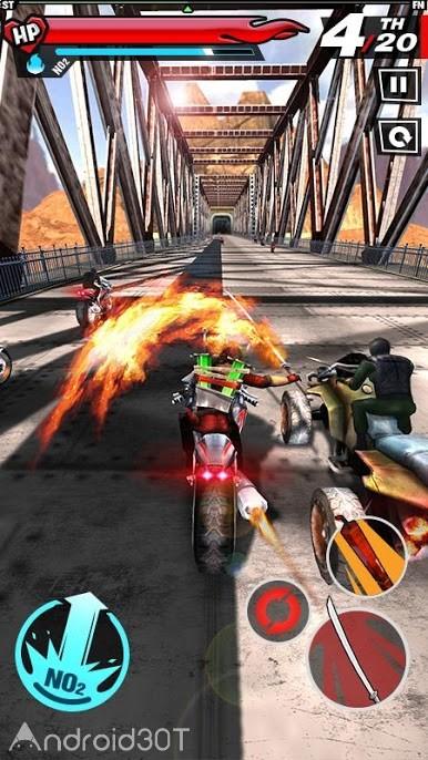 دانلود Fury Rider 1.0.3 – بازی اکشن موتور سواری برای اندروید