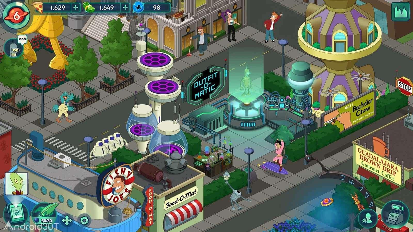 دانلود Futurama: Worlds of Tomorrow 1.6.6 – بازی ماجراجویی فوتوراما اندروید