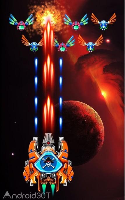 دانلود Galaxy Attack: Alien Shooter 25.2 – بازی آرکید نبرد کهکشان اندروید