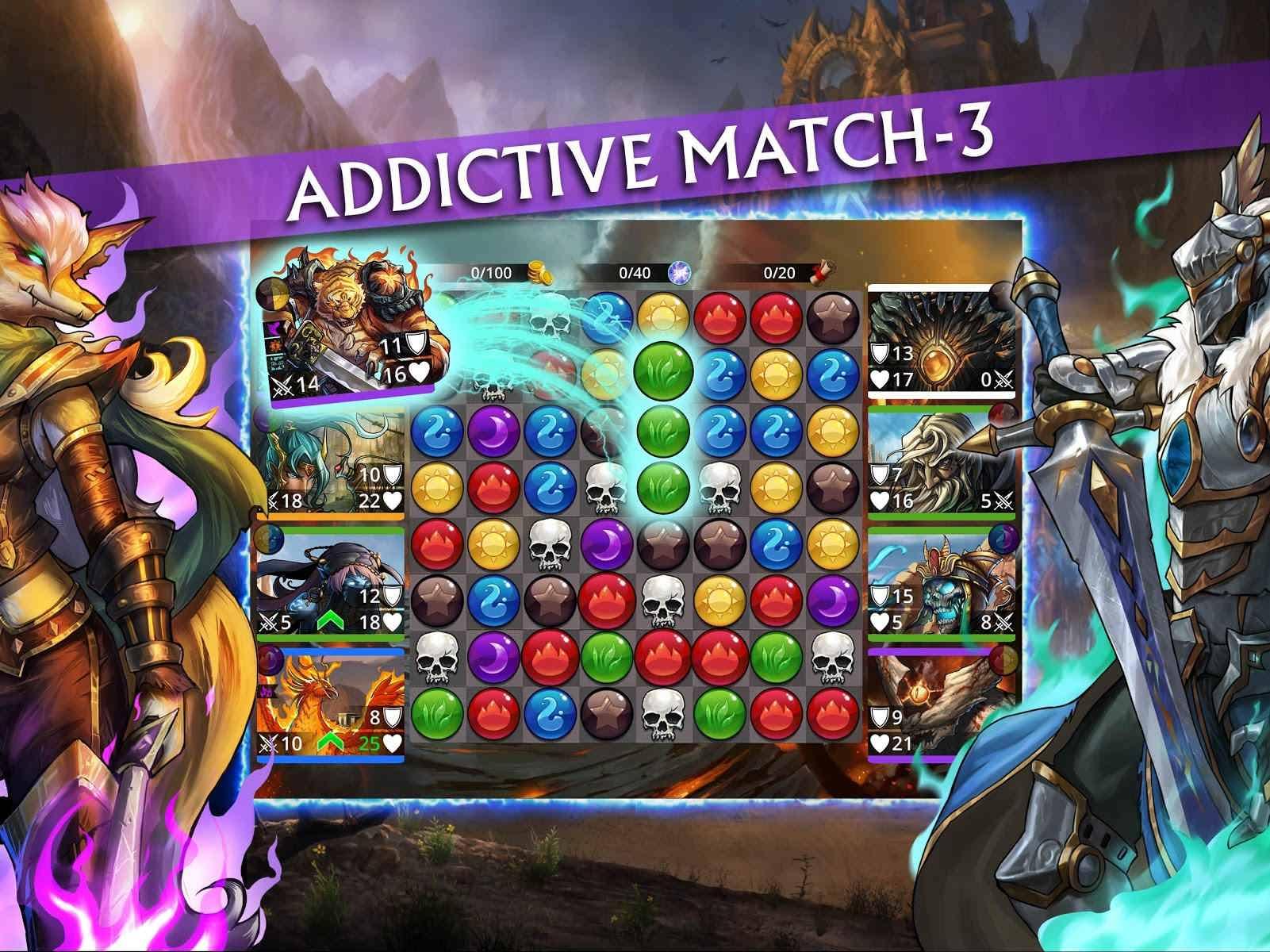 دانلود Gems of War – Match 3 RPG 5.3.5 – بازی پازلی حذف سنگها اندروید