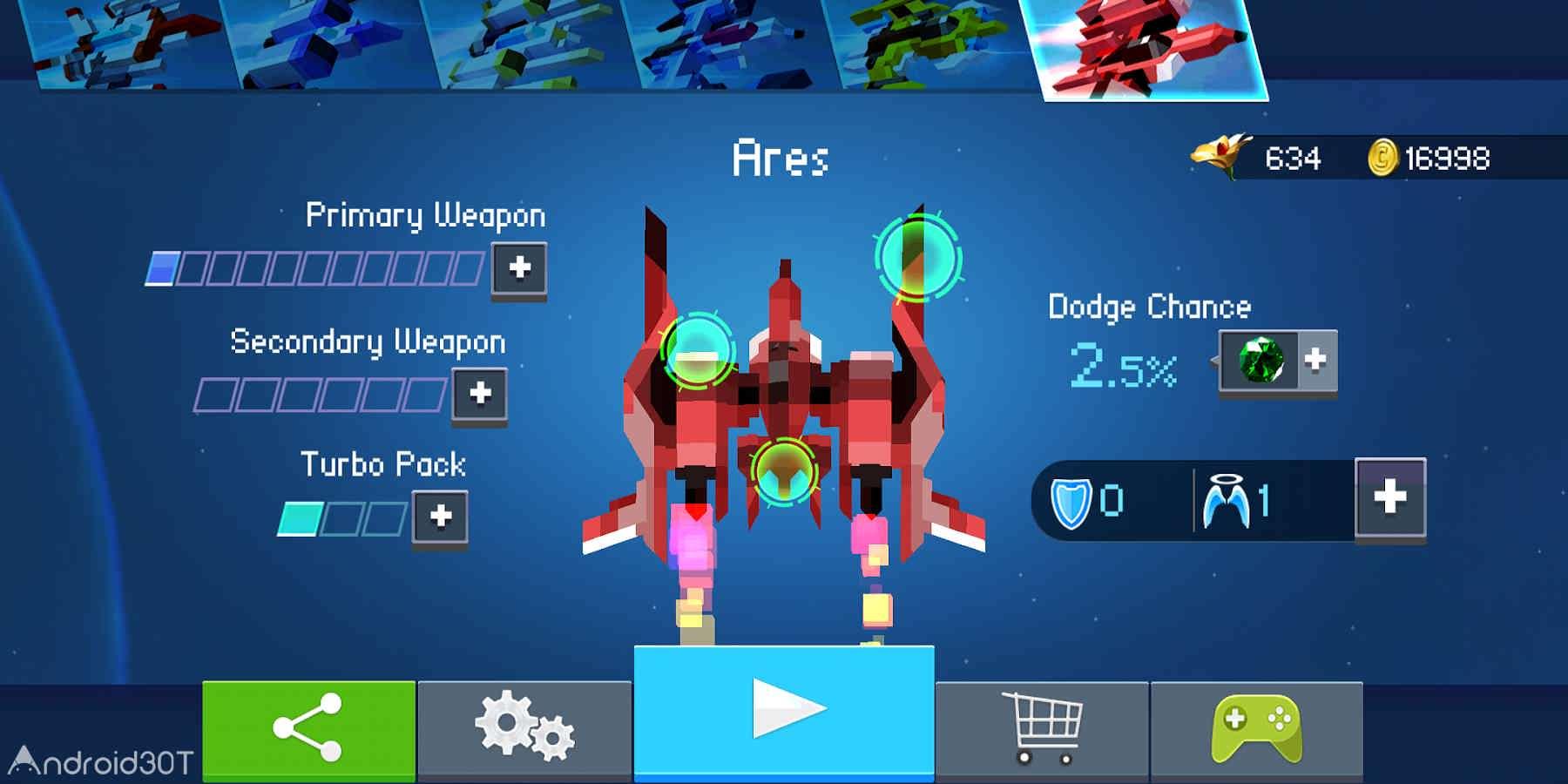 دانلود Gold Flower – Bullet Hell Shooter 2.1.0 – بازی آرکید جنگنده فضایی اندروید