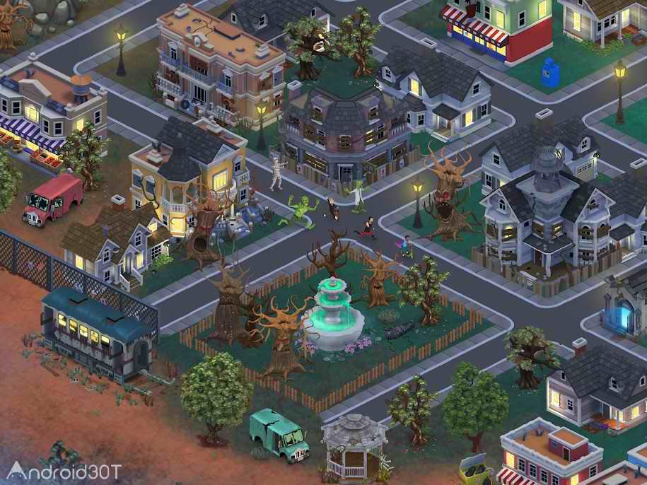 دانلود Goosebumps HorrorTown – Monsters City Builder 0.3.2 – بازی شبیه سازی ترسناک برای اندروید