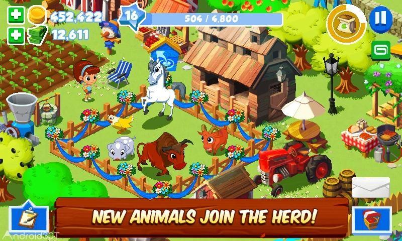 دانلود Green Farm 3 v4.4.2 – بازی تفننی مزرعه سبز ۳ اندروید