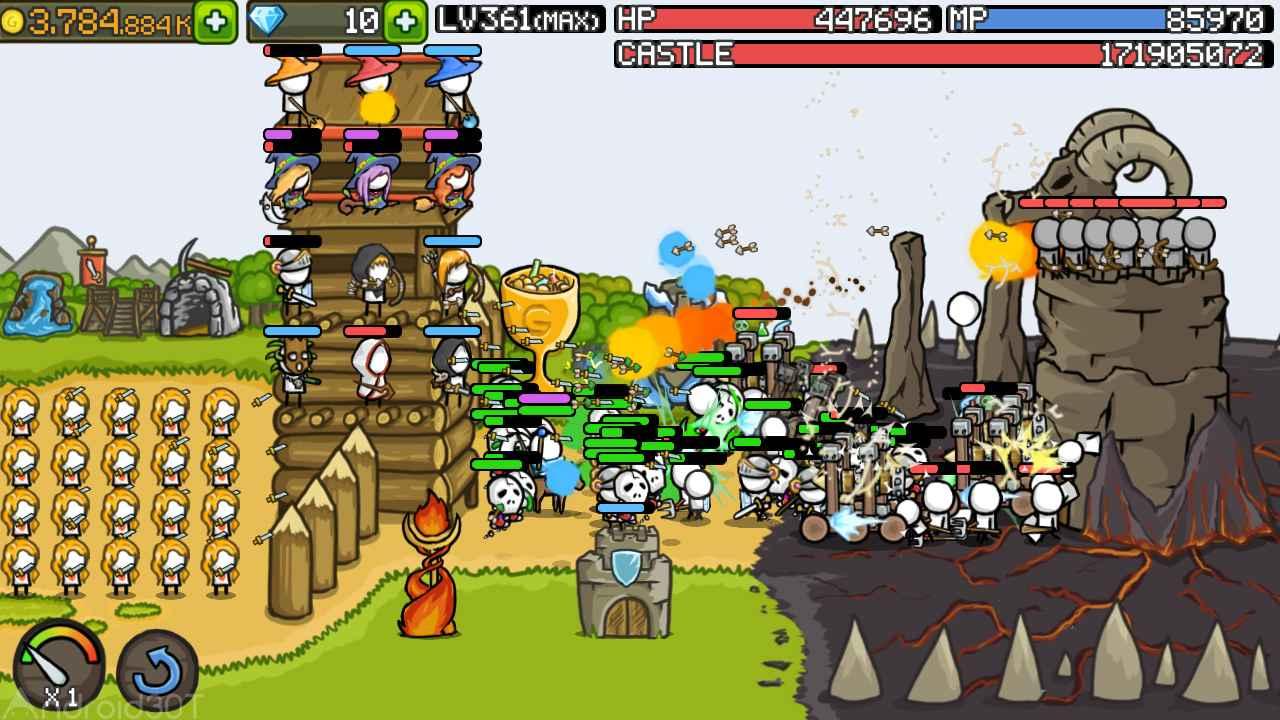 دانلود Grow Castle 1.31.13 – بازی رقابتی عالی دفاع از قلعه اندروید
