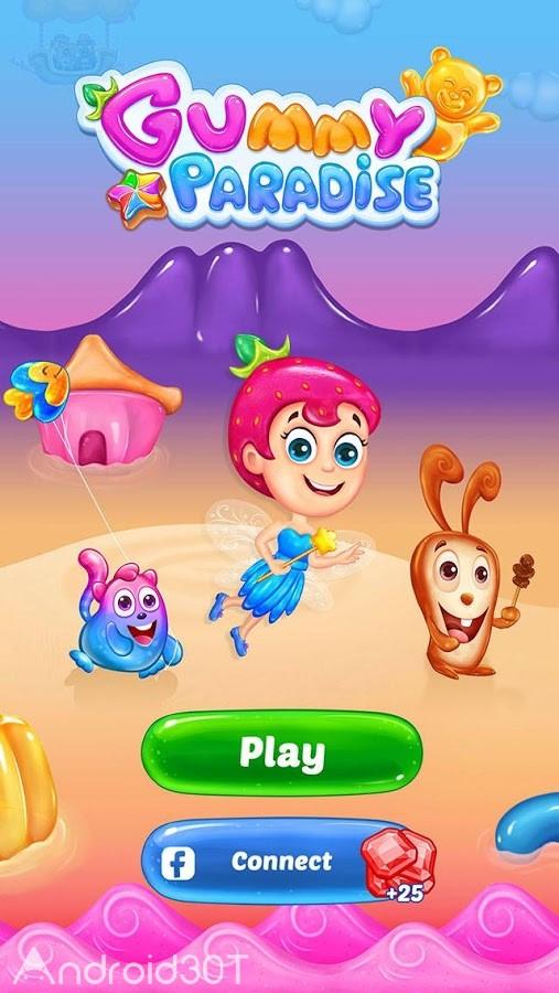 دانلود Gummy Paradise 1.6.2 – بازی پازلی بهشت جادویی اندروید