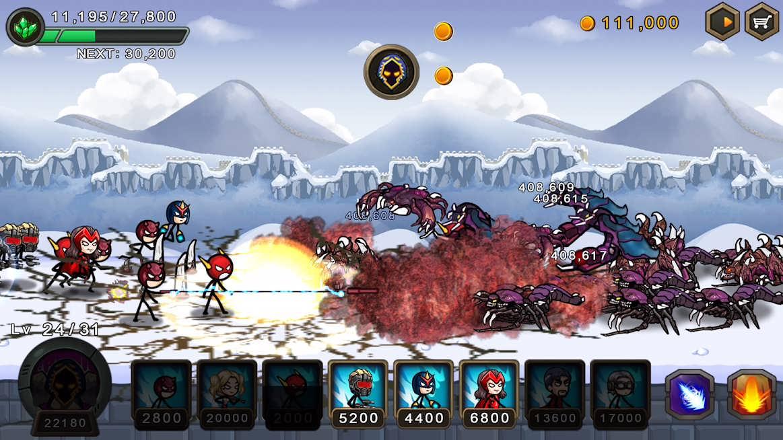 دانلود HERO WARS: Super Stickman Defense 1.0.9 – بازی استراتژیکی جنگ قهرمانان اندروید