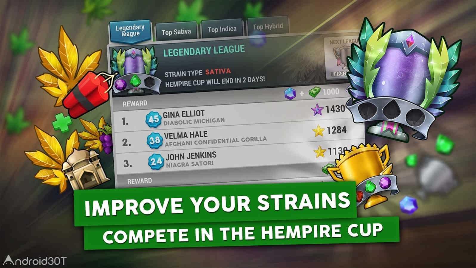 دانلود Hempire – Weed Growing Game 1.23.7 – بازی پرورش گل و گیاه آنلاین اندروید