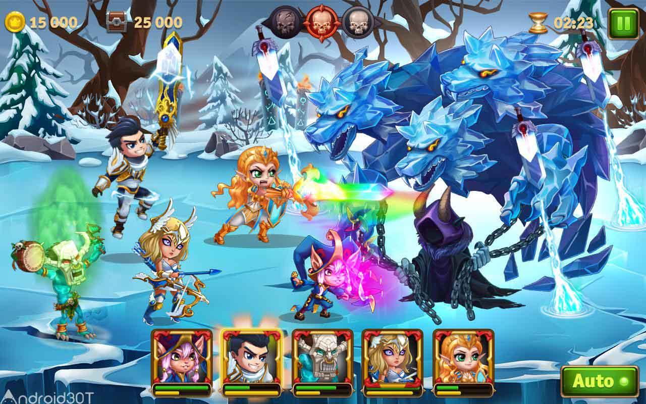 دانلود Hero Wars – Men's Choice Epic Fantasy RPG 1.68.7 – بازی نقش آفرینی نبرد قهرمانان اندروید