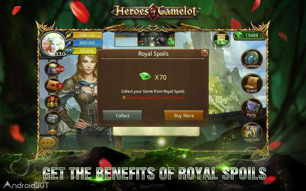 دانلود Heroes of Camelot 9.2.3 – بازی نقش آفرینی بدون دیتا برای اندروید