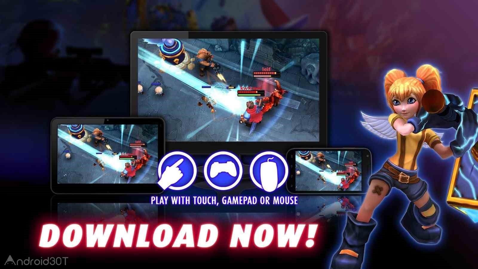 دانلود Heroes of SoulCraft – MOBA 1.8.0 – بازی اکشن آنلاین اندروید