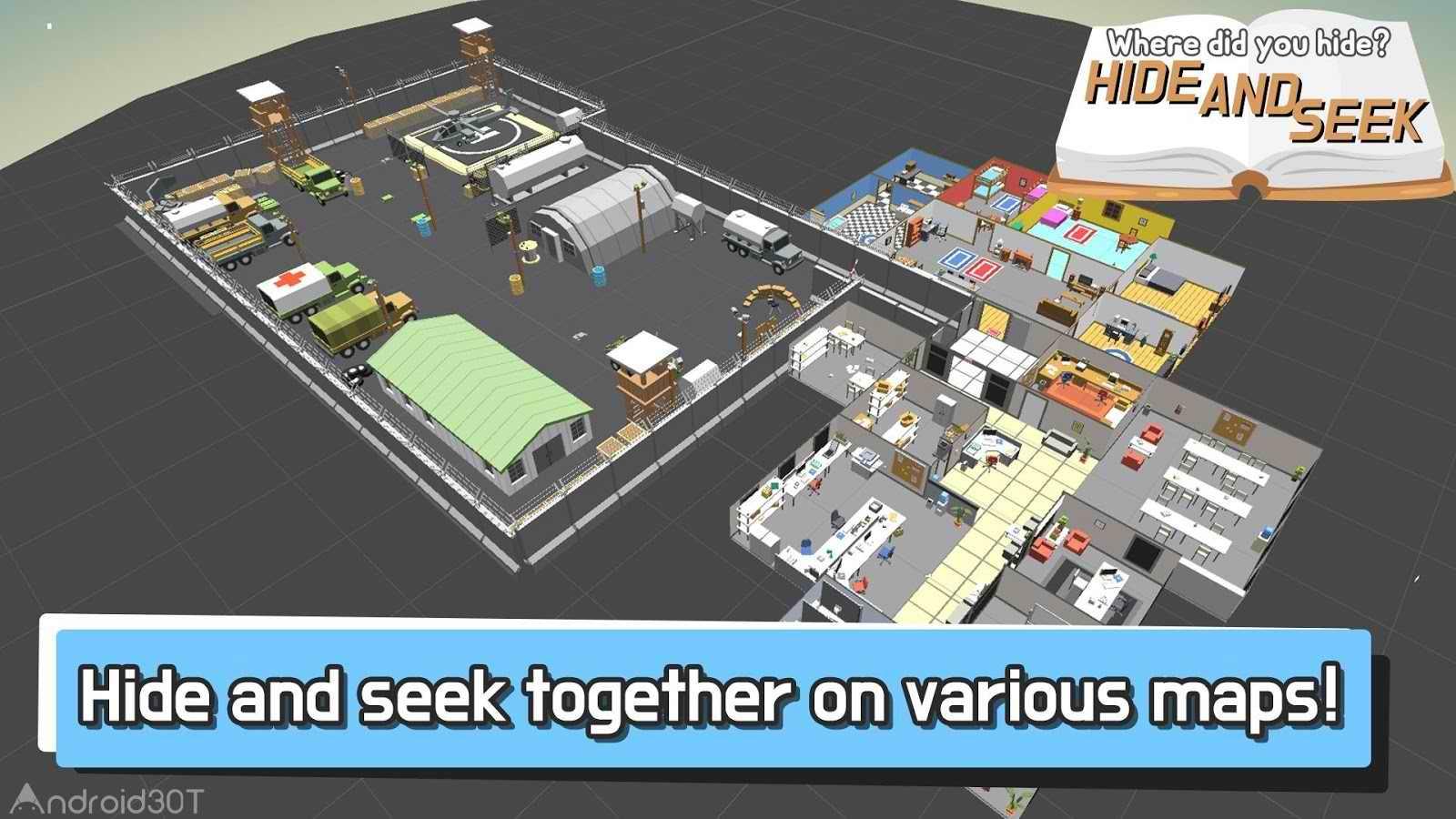 دانلود Hide.io 28.0.6 – بازی قایم موشک برای اندروید