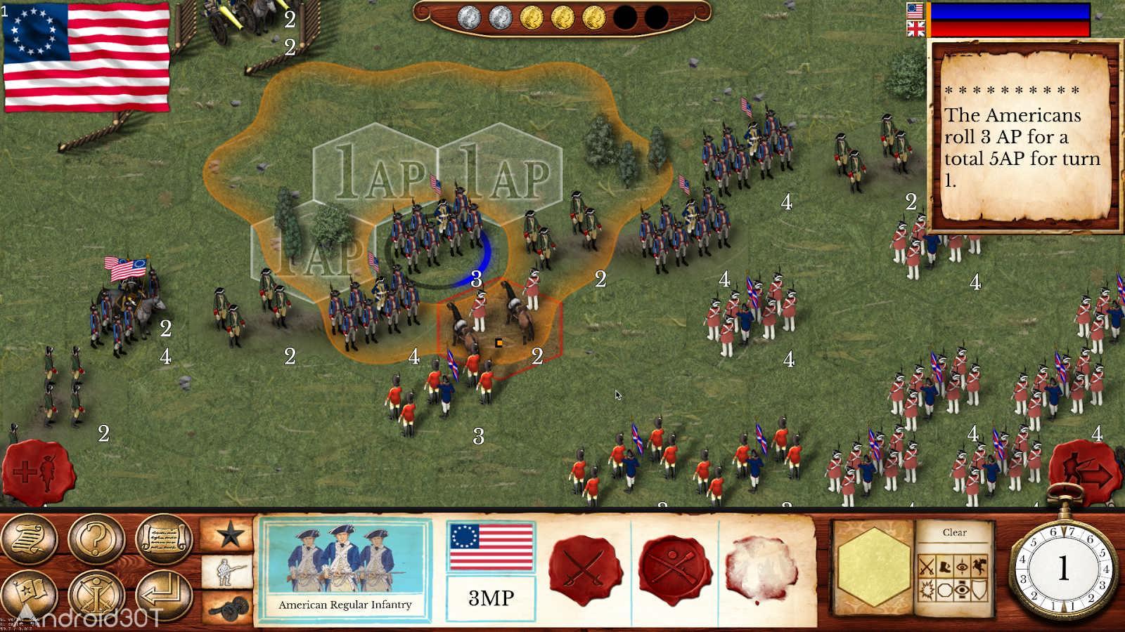 دانلود Hold the Line: The American Revolution 1.0 – بازی استراتژیکی انقلاب آمریکا اندروید