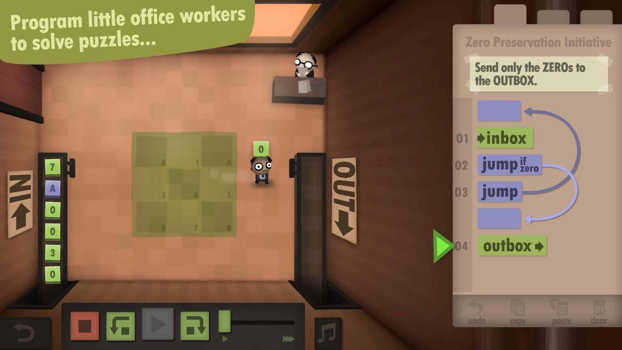دانلود 1.0.4 Human Resource Machine – بازی پازلی متفاوت برای اندروید