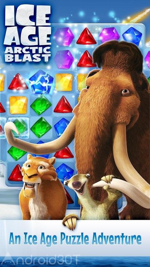 دانلود Ice Age Arctic Blast 1.13.909 – بازی پازلی عصر یخبندان اندروید