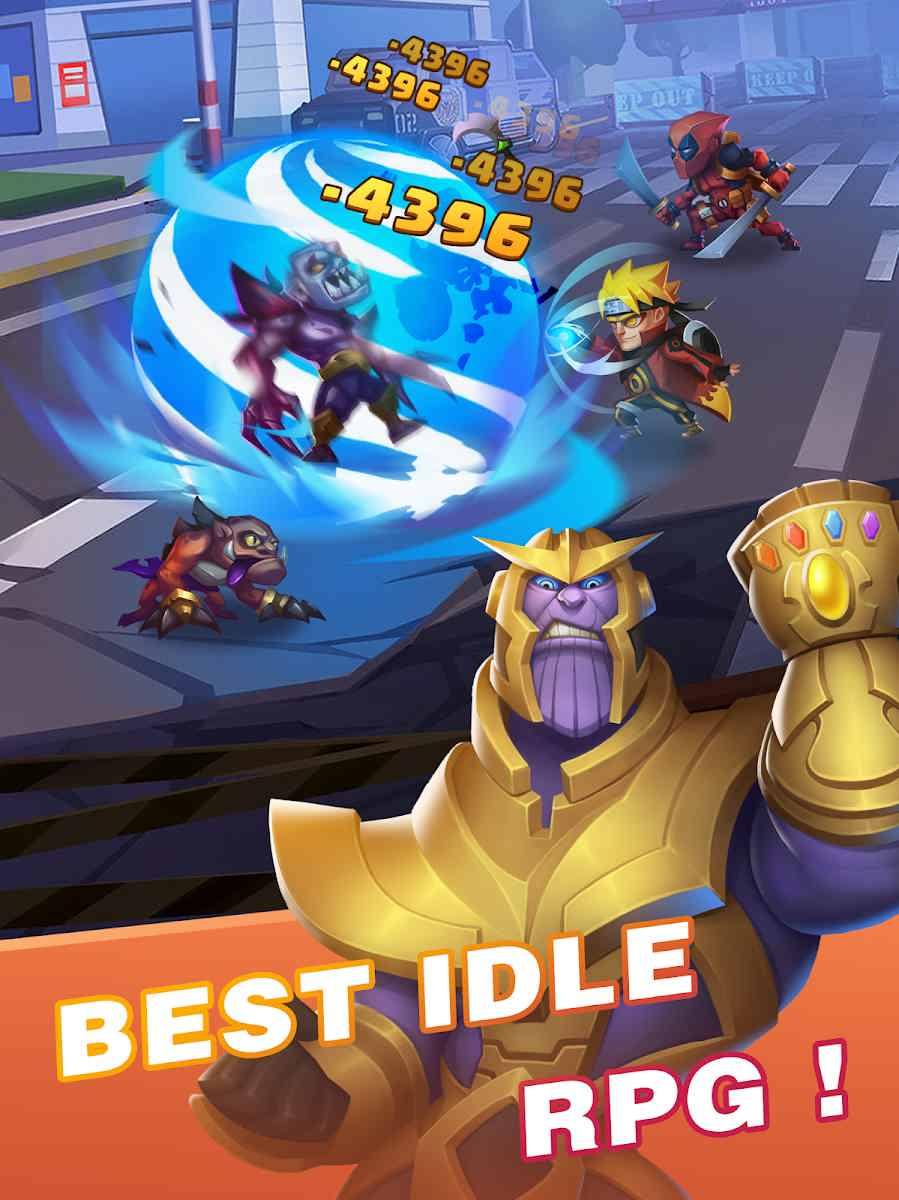 دانلود Idle Battles:Heroes vs Zombies 1.1.10 – بازی قهرمانان در مقابل زامبی ها اندروید