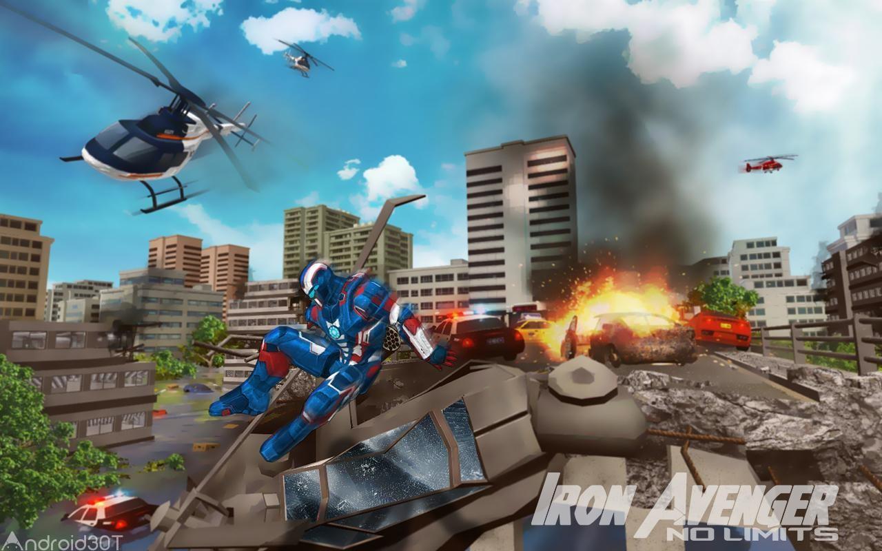 دانلود Iron Avenger 2 : No Limits 1.8 – بازی رقابتی آونگر اندروید