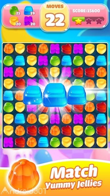 دانلود Jelly Jam Blast A Match 3 Game 1.0.3 – بازی مسابقه انفجار مربا ژله ای اندروید