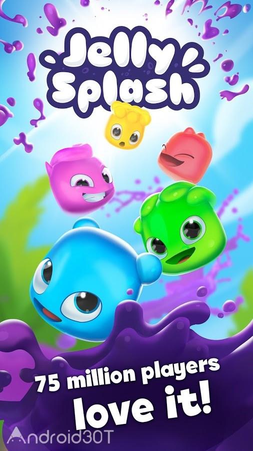 دانلود Jelly Splash 3.40.0 – بازی پازلی تطبیق ژله های رنگی اندروید