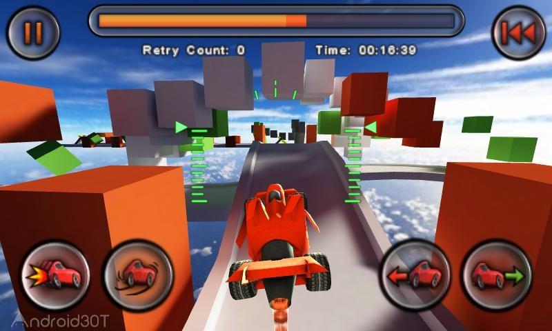 دانلود Jet Car Stunts 1.08 – بازی مسابقه ای اتومبیل های جت اندروید