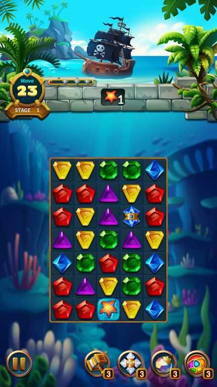 دانلود Jewels Fantasy Legend 1.2.6 – بازی پازلی افسانه جواهرات اندروید