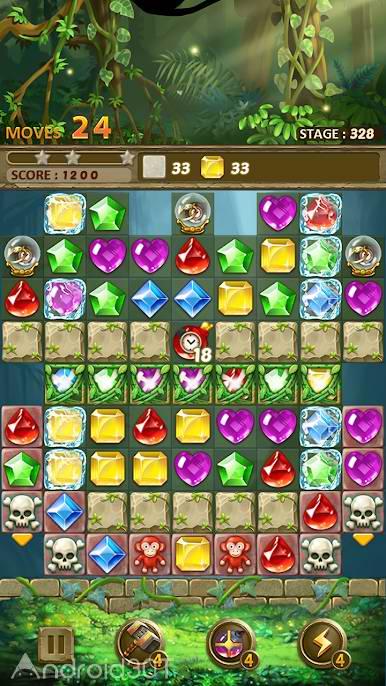 دانلود Jewels Jungle : Match 3 Puzzle 1.3.2 – بازی فکری جواهرات رنگارنگ اندروید