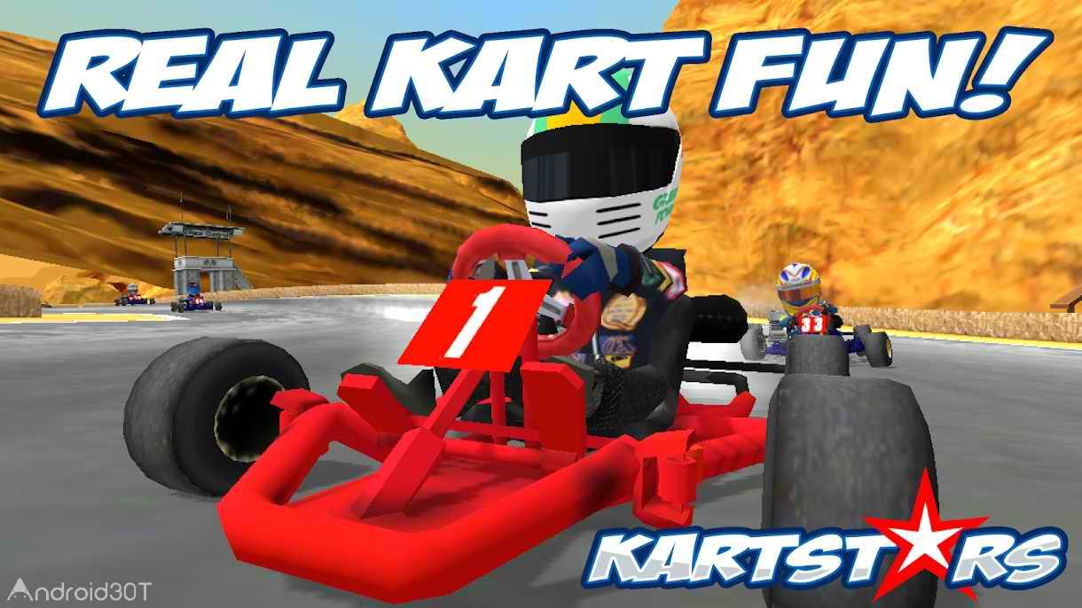 دانلود Kart Stars 1.9 – بازی مسابقه ای قهرمانان کارتینگ اندروید