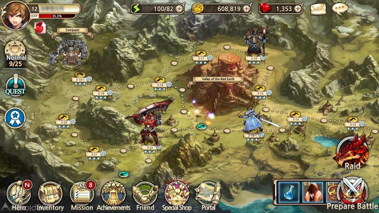 دانلود King's Raid 3.78.10 – بازی یورش پادشاه اندروید