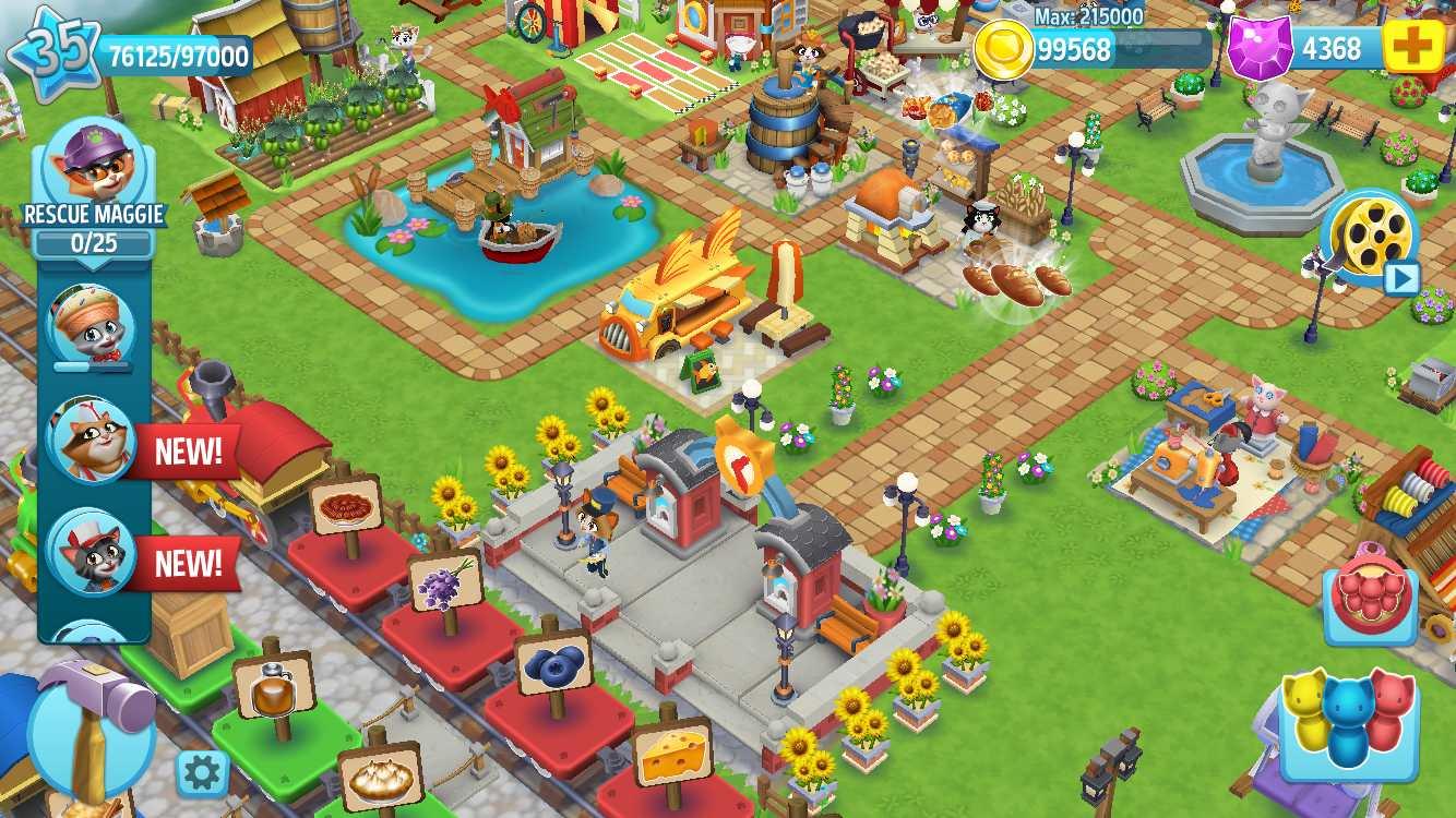 دانلود Kitty City: Kitty Cat Farm Simulation Game 17.000 – بازی مزرعه داری اندروید