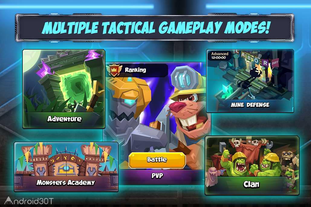 دانلود Tactical Monsters Rumble Arena 1.16.3 – بازی استراتژی آنلاین اندروید