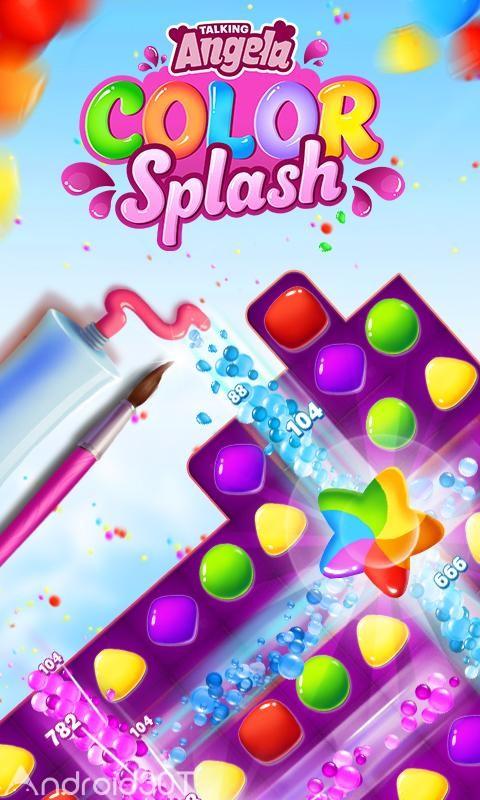 دانلود Talking Angela Color Splash 1.0.9.1219 – بازی پازلی آنجلای سخنگو اندروید