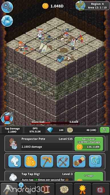دانلود Tap Tap Dig 2.0.8 – بازی شبیه سازی جالب برای اندروید