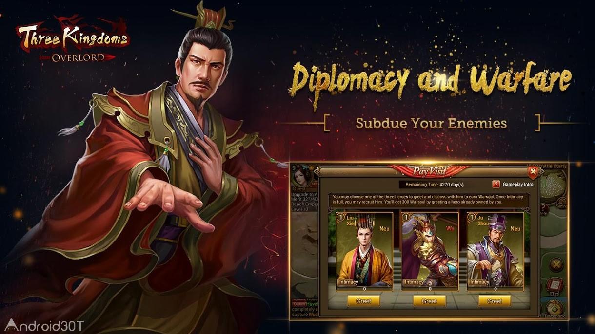 دانلود Three Kingdoms: Overlord 2.6.90 – بازی استراتژیک سه امپراطوری اندروید