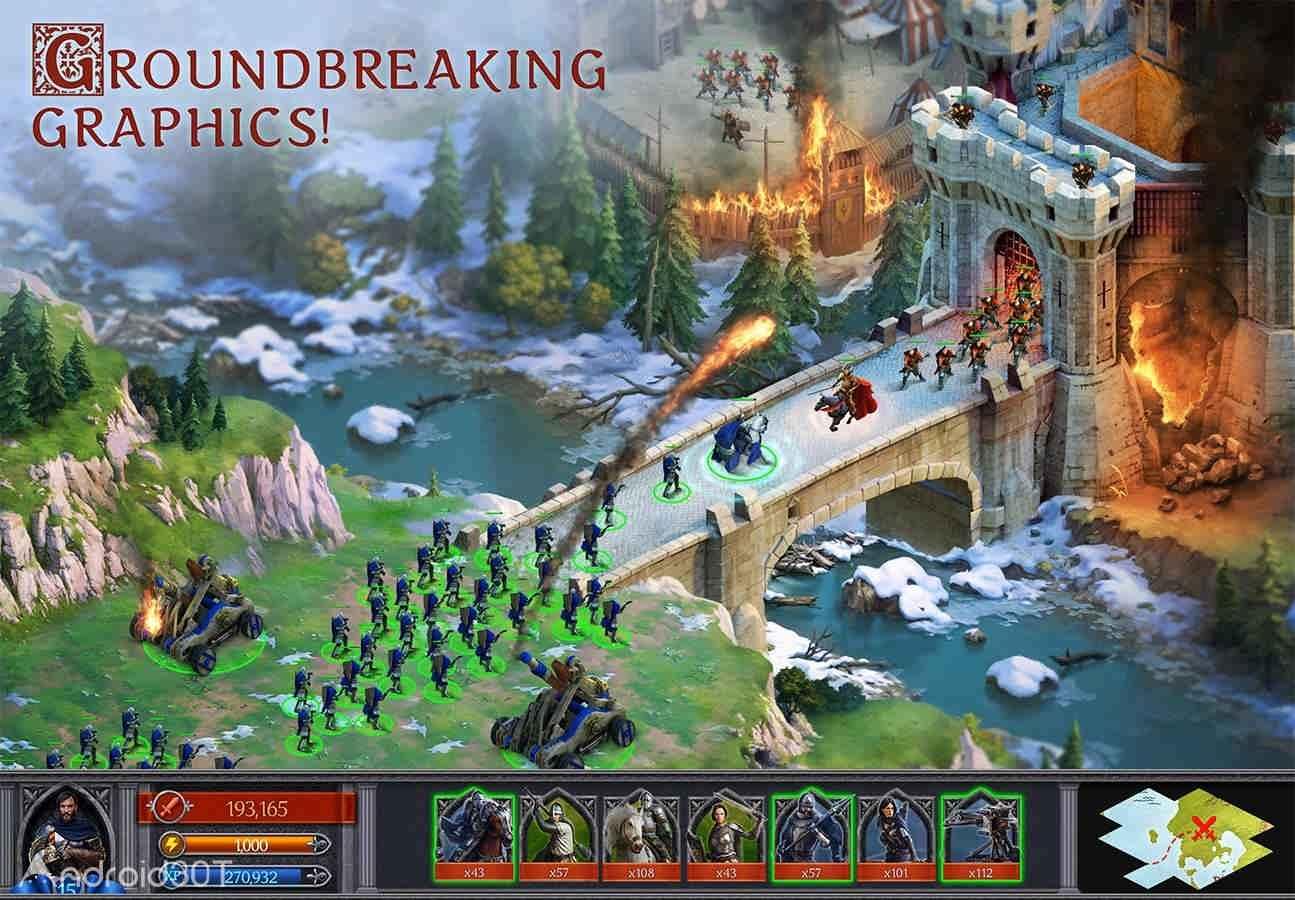 دانلود Throne: Kingdom at War 5.1.1.704 – بازی استراتژیکی تخت پادشاهی اندروید