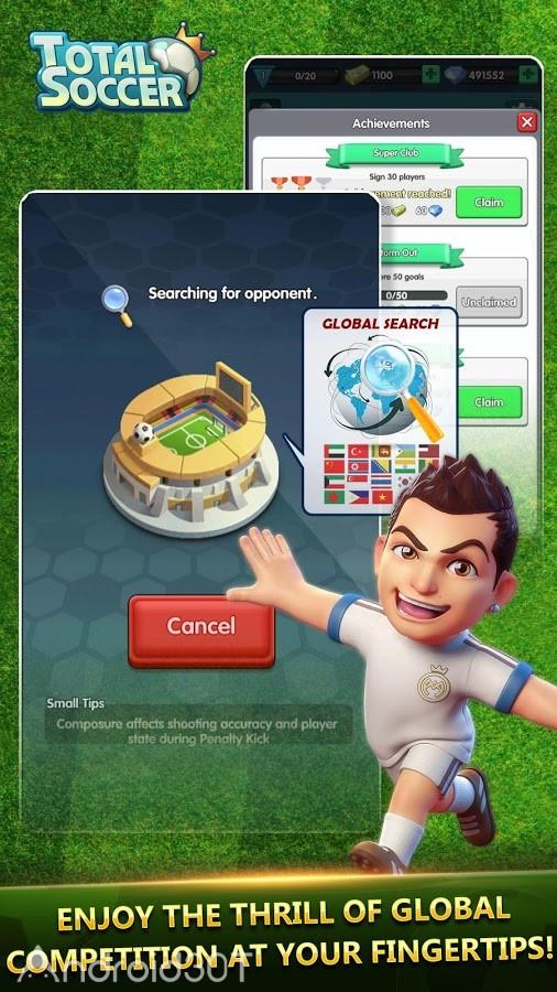 دانلود Total Soccer 1.5.5 – بازی فوتبالی بدون دیتا برای اندروید
