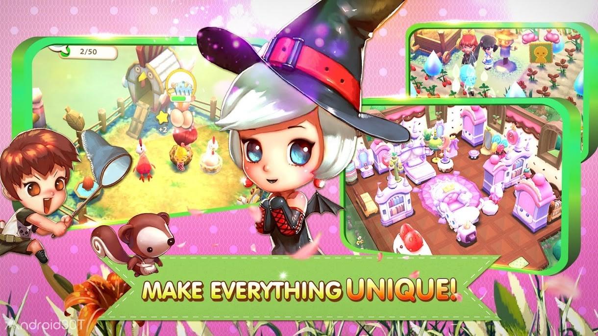 دانلود Townkins Wonderland Village 1.1.125 – بازی شبیه سازی مزرعه اندروید