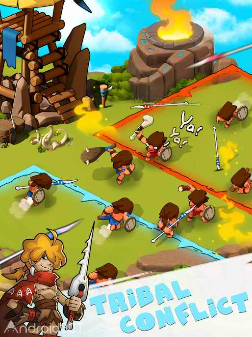 دانلود Tribes Age:Rise of Caveman 1.2.10 – بازی استراتژیکی ظهور غارنشینی اندروید