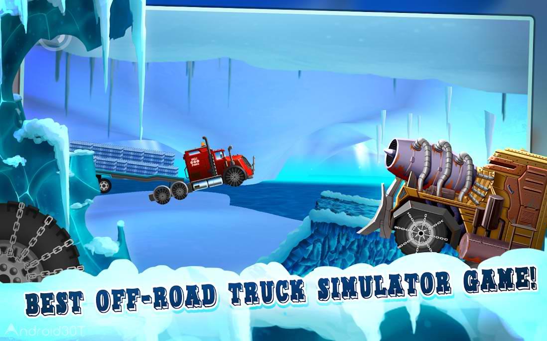 دانلود Ice Road Truck Driving Race 3.5.8 – بازی مسابقه با کامیون اندروید