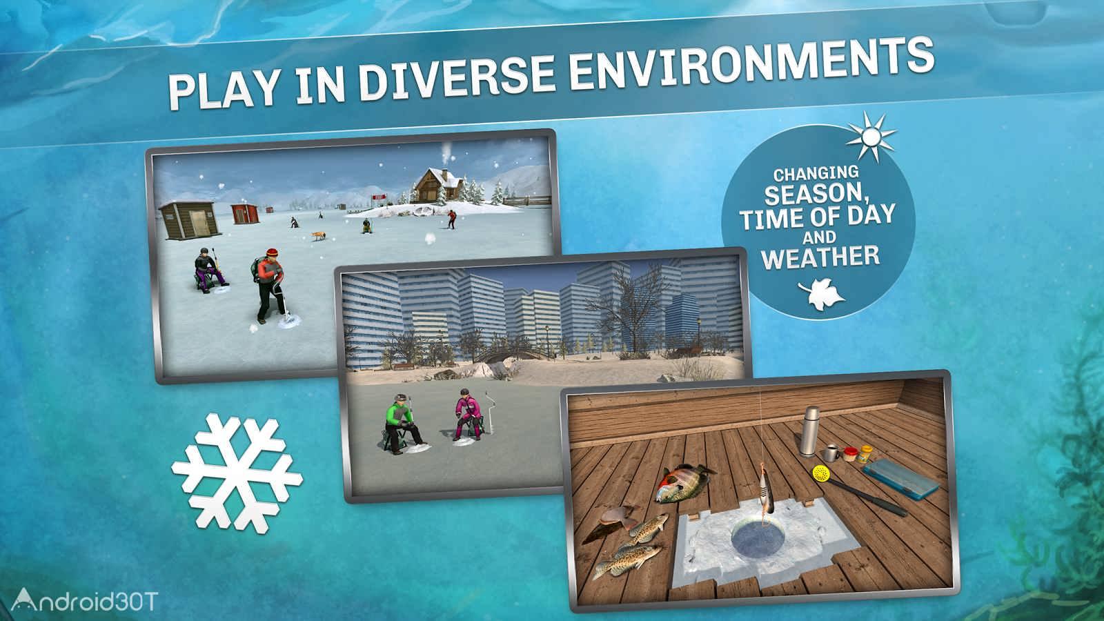 دانلود Ice Lakes 1724 – بازی ماهیگیری دریاچه های یخی اندروید