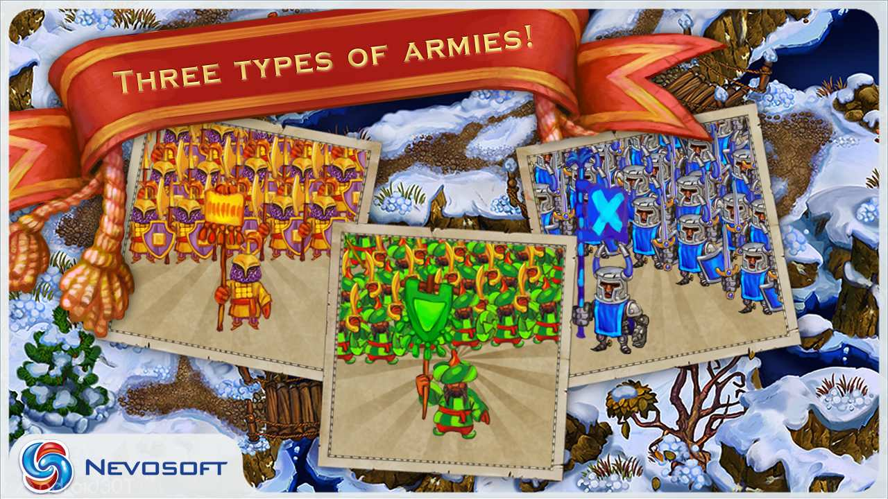 دانلود LandGrabbers 2.5.2 – بازی استراتژیکی قرون وسطی اندروید