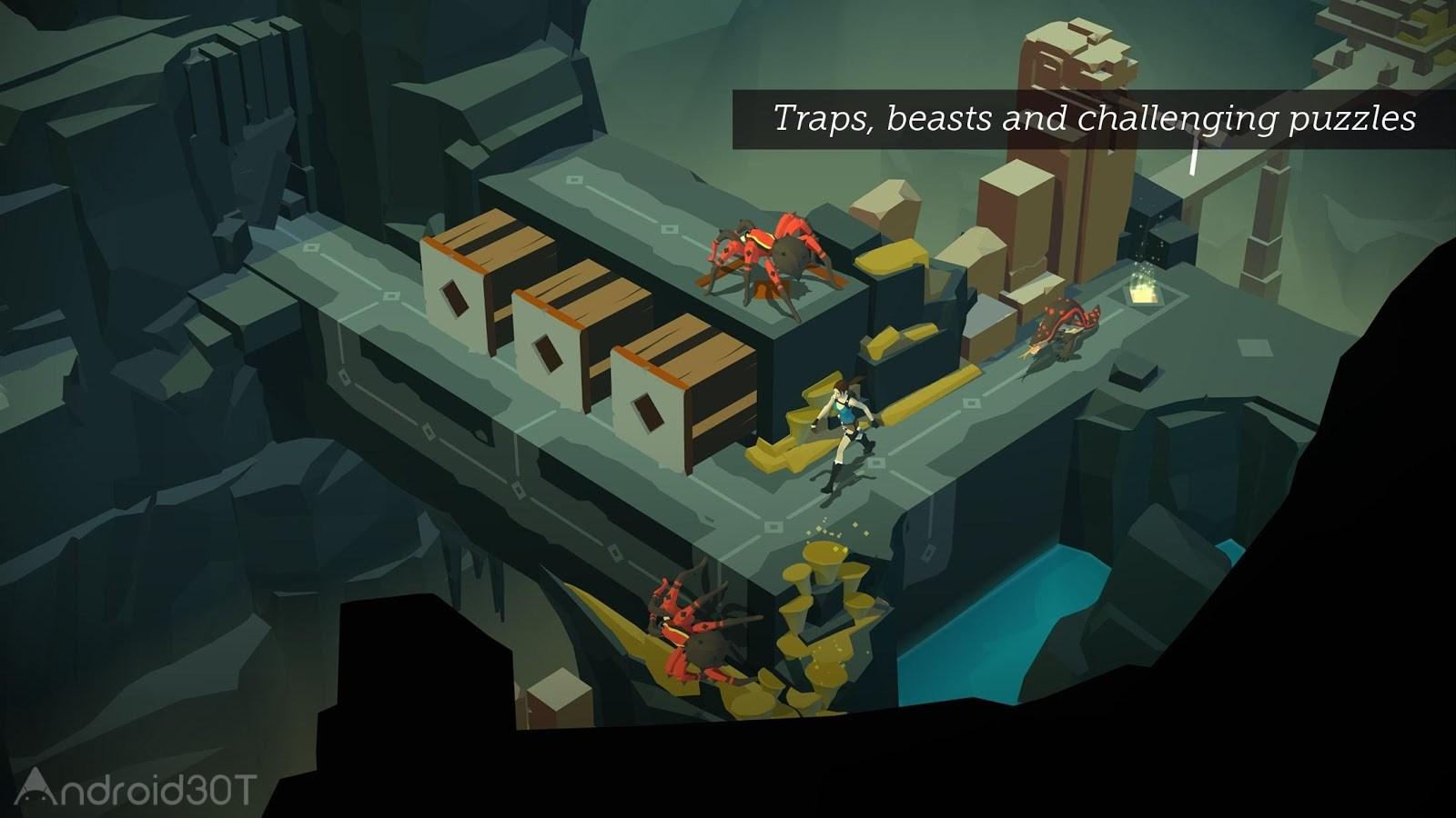 دانلود Lara Croft GO 2.1.109660 – بازی لارا کرافت گو اندروید