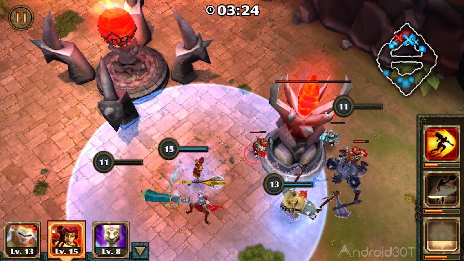 دانلود Legendary Heroes MOBA 3.0.78 – بازی قهرمان های افسانه ای اندروید