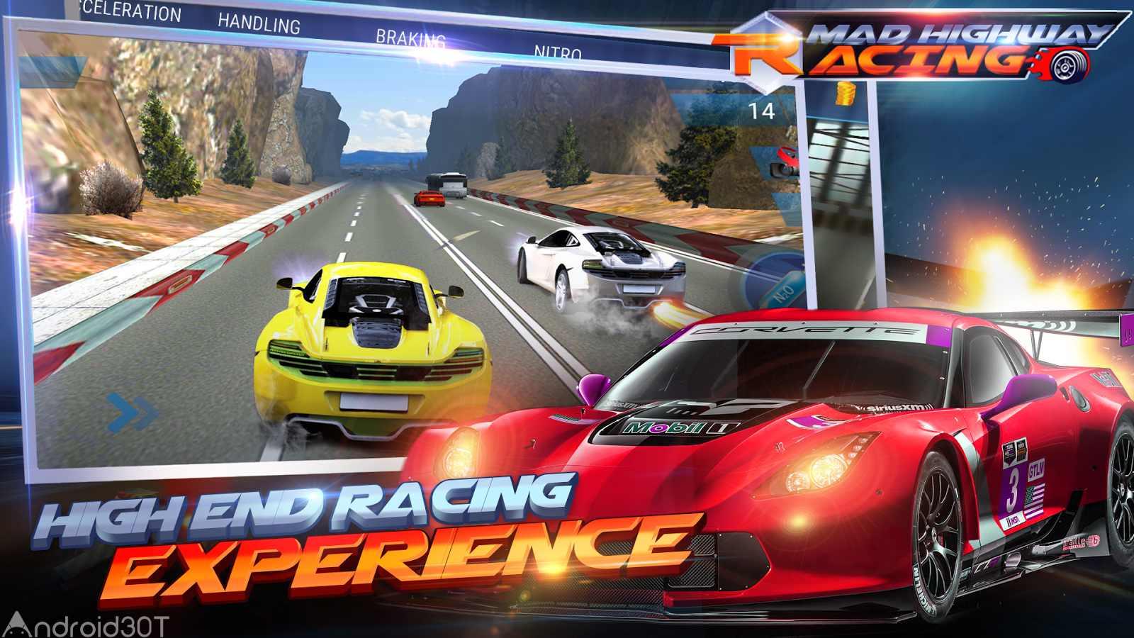 دانلود Mad 3D:Highway Racing 1.1 – بازی ماشین سواری اتوبان اندروید