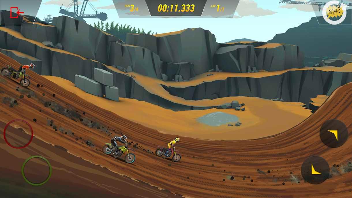 دانلود Mad Skills Motocross 3 0.8.2 – بازی مسابقات دیوانه وار موتورکراس 3 اندروید