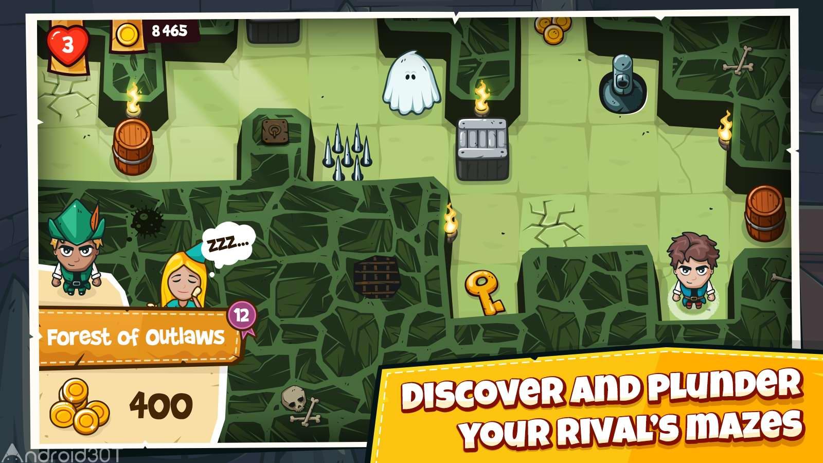 دانلود Maze Bandit 1.1 – بازی آنلاین پازلی راهزن اندروید