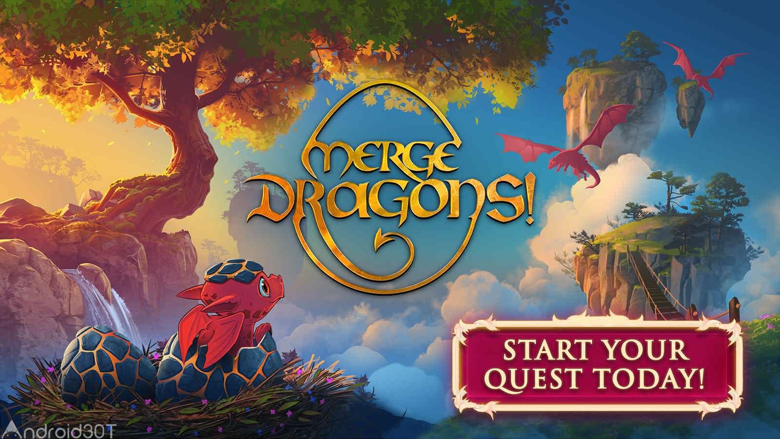 دانلود Merge Dragons 5.5.0 – بازی پازل سرگرم کننده و اعتیاد آور ترکیب اژدهایان اندروید