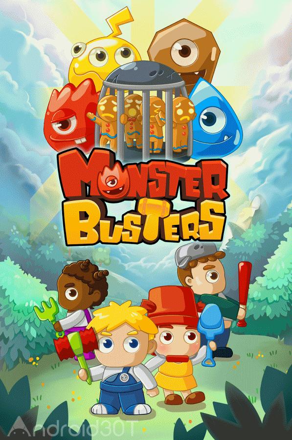 دانلود MonsterBusters: Match 3 Puzzle 1.3.64 – بازی پازلی جنگ با هیولا اندروید