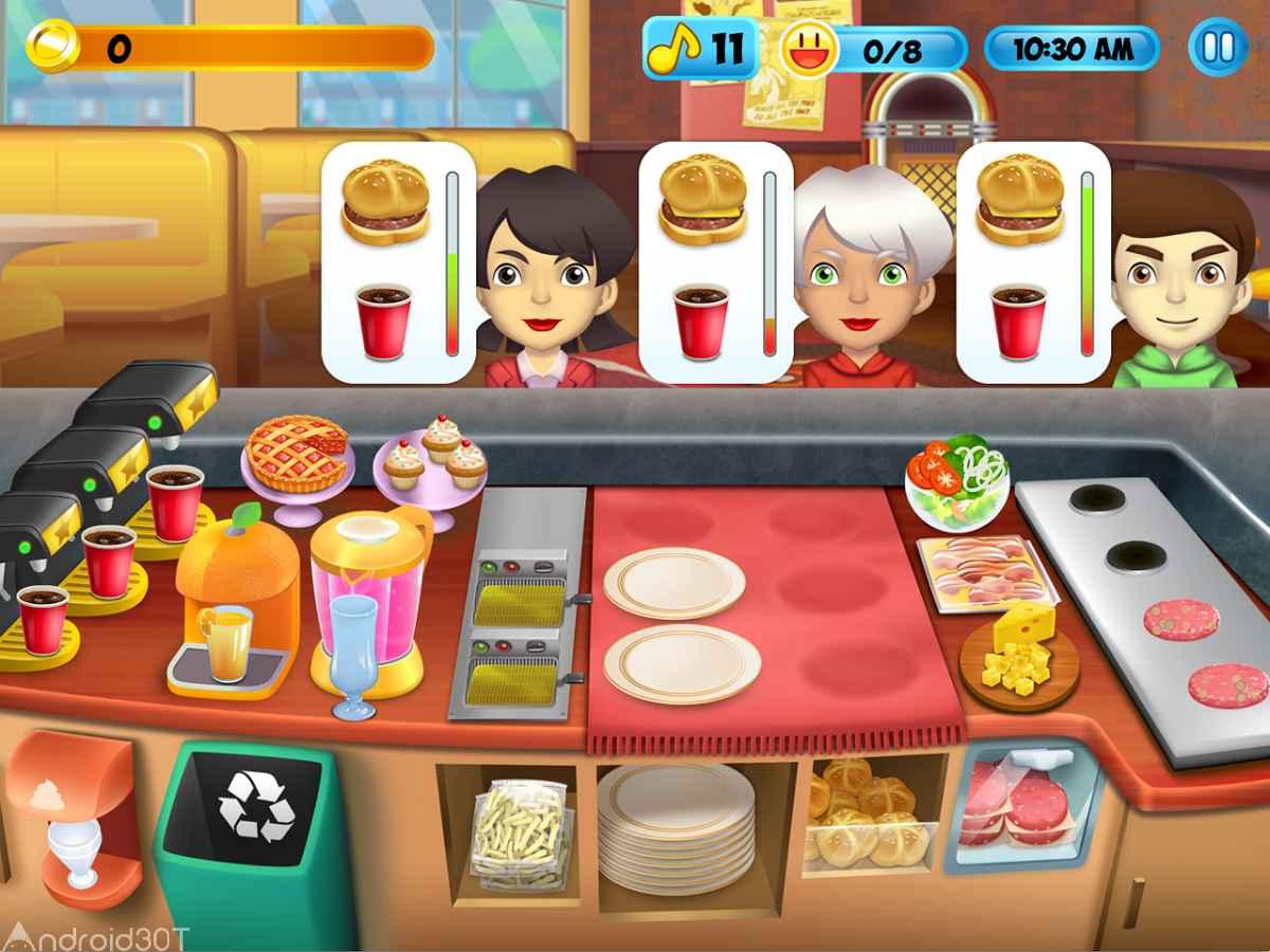 دانلود My Burger Shop 2 – Food Store v1.4.1 – بازی رستوران فست فود اندروید