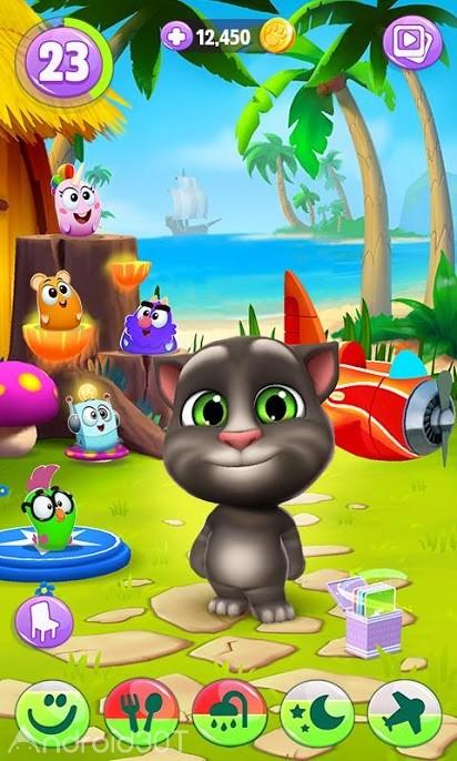 بازی My Talking Tom 2 2.0.1.962 – بازی کودکانه تام سخنگو ۲ اندروید
