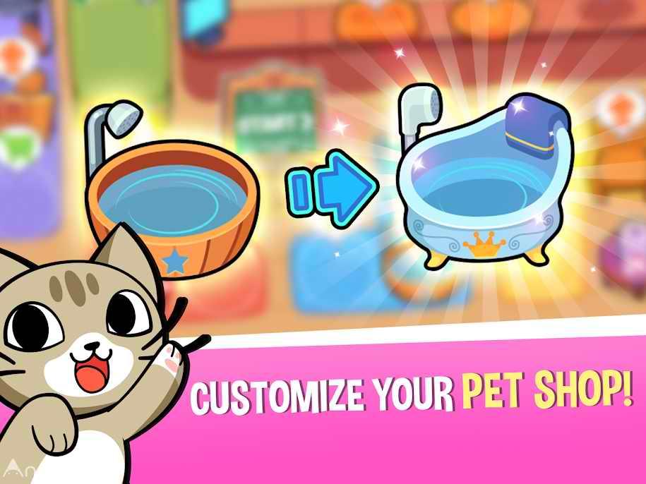 دانلود My Virtual Pet Shop – Cute Animal Care Game 1.5.1 – بازی نگهداری از حیوانات خانگی اندروید